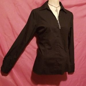 New Worthington Cuffed Fitted Bust Blouse